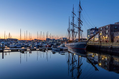 Tall Ships at Dawn (Rich Walker75) Tags: plymouth barbican plymouthbarbican suttonharbour ship ships dawn morning bluehour landscape landscapes landscapephotography landmark landmarks canon efs1585mmisusm eos100d devon uk england