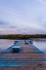 Rusałka Lake (marcinbąkowski) Tags: lake poland morning sunrise platform colofrul forest