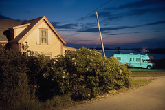 (patrickjoust) Tags: lubec maine house camper rv dusk night longexposure vines fujicagw690 kodakportra160 6x9 medium format 120 rangefinder 90mm f35 fujinon lens cable release tripod long exposure c41 manual focus analog mechanical patrick joust patrickjoust usa us united states north america estados unidos new england me
