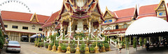 Wat Rajsingkorn  or Wat Prakarai  next to Asiatique, the Riverfront, Charoen Krung road, Bang Kho Laem District, Bangkok, Thailand. (samurai2565) Tags: asiatique theriverfront chaophrayariver marketsinbangkok nightmarketinbangkok asiatiquetheriverfront 2194charoenkrungroad watprayakrai bangkholaem bangkok10120 thailand watrajsingkorn watprakarai