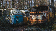Vee Dub Yaa... (As The Light Slowly Fades...) Tags: abandoned forgotten volkswagen derelict decay dust cars rust rot