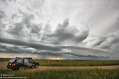 Shelf Cloud near Ponteix Sk. (ryan.crouse) Tags: yorkton storm spotting chasing thunder lightning thunderstorm nature weather cloud rain hail canwarn sask saskatchewan canada western extreme severe clouds prairies skywatcher landscape explore supercell thunderstorms tornado warned funnel winds mammatus shelfcloud nationalgeographic ryancrouse stormchaser stormspotting manitoba skstorm nissan nissanpathfinder pathfinder therebeastormabrewin
