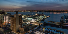 Intrepid Sea, Air and Space Museum (20170324-DSC09258-Edit) (Michael.Lee.Pics.NYC) Tags: newyork aerial hotelview presslounge ink48 hudsonriver intrepidseaairspacemuseum newjersey sunset night twilight 12thavenue piers sony a7rm2 fe2470mmf28gm