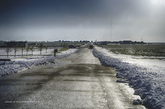 Rare View (Chains of Pace) Tags: oklahoma panhandle perspective storm snow rural road