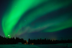 Aurora in the night sky (Rezwanul Islam (REZ1)) Tags: kittilä lapland finland fi aurora borealis spectacular display green light starry sky night photography northern lights landscape scandinavia levi ski resort canon 600d magical dancing finnish winter snow covered