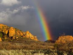 Dear Zion (xjblue) Tags: 2017 mtb stgeorge area desert race rampage redrock rockart trip utah landscape southernutah scenic zionnationalpark rainbow clouds kolob