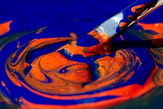 Painting in Orange and Blue