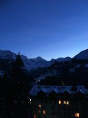 ... ...bOnsOir... ... (project:2501) Tags: wengen jungfrauregion suisse switzerland snow ski travel hotel hotelbelvédère hotelroom artnouveau 1912 view aroomwithaview balcony theviewfromhere evening dusk twilight bluelight blue bluebleu bleu sunset inthemountains mountains mountain rock pinetrees alpinefauna jungfrau4158m breithorn3782m tschingelhorn3557m gspaltenhorn3437m stellifluh2232m mürren1634m