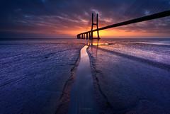 Breakthrough (CResende) Tags: breakthrough beginning sunrise bridge path lisbon sky water river portugal cresende d810 color travel progreyusa alone moments peace 1424