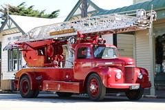 DS 4954 (ambodavenz) Tags: newzealand ferrymeadmuseum fireserviceshistoricalsociety turntableladder commer merryweather fire appliance timaru christchurch canterbury