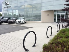 R-8224 Bike Rack (Reliance Foundry Co. Ltd.) Tags: bike parking dealership black rack design security outdoor architecture landscape site furnishings