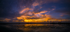 Sunset at the Salt Lake (Alex Apostolopoulos) Tags: landscape panorama saltlake sunset antennas clouds dreamscape sky lake skyscape sony ilce6000 sonya6000 sonye16mmf28 manfrottobefree