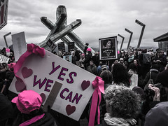 IMG_0199 (justine warrington) Tags: womens march womensmarch womensmarchonwashington washington pink pussy hats pinkpussyhat protest signs trump 45th presidential election january 21st 2017 potus resist resistance is fertile
