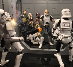 Captain Rex leading the charge. (chevy2who) Tags: custom rexcustom rebelscustom rebels gtptoys spacewalls toyphotography figure action toy inch six blackseriescustom rex captain starwarscustom wars star