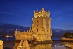 Lisboa -  Torre de Belém (Rolandito.) Tags: torre de belém turm von belem tower lisbon lissabon portugal lisboa europe europa blue hour evening night dusk twilight light lights illumination illuminated