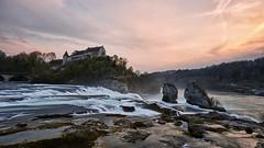 Rheinfall (nicolas.fernandez85) Tags: nikon 1424 d750 sunset dusk red water waterfall schweiz suisse svizzera switzerland nature landscape long exposure rhein rheinfall castle