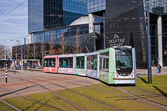 RET 2127 in pastel shades. Rotterdam Centraal 26March17. (mikul44171) Tags: tram rotterdam pastel pastelcolours citycentre ret delftsepoort