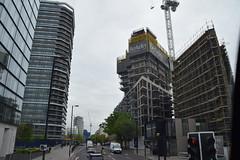 DSC_9289 (photographer695) Tags: london bus route 205 city road new construction