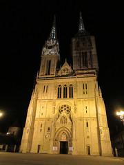 Zagreb Cathedral at night, Kaptol, Zagreb, Croatia (Paul McClure DC) Tags: zagreb croatia hrvatska balkans feb2017 historic architecture cathedral