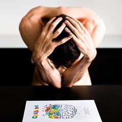 Creative versus Logic (Zeeyolq Photography) Tags: brain creative disease logic man sick think thoughts health