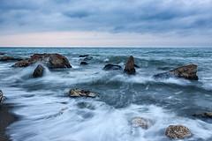 Marina (quinoal) Tags: 2538 marina quino quinoal mediterráneo paseodeloscanadienses mar playa rocas olas levante málaga