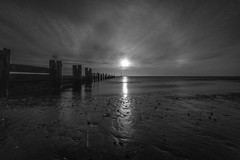 Monochrome Sunrise (simononeill1971) Tags: cleethorpes beach sunrise monochrome landscape photography groynes sky clouds longexposure water river nelincs horizon