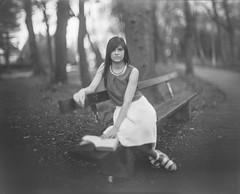 (Attila Pasek) Tags: 8inchf29 8x10 ilford ortho vds vdscameramanufactory bw bench bokeh book film girl largeformat pentac portrait read reader woman