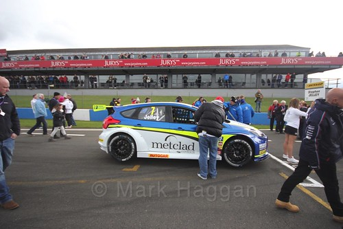 Stephen Jelley on the grid before race two at the British Touring Car Championship 2017 at Donington Park