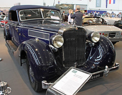 A real Maybach (Schwanzus_Longus) Tags: techno classica essen german germany old classic vintage car vehicle cabrio cabriolet convertible dark blue maybach sw38 spezial
