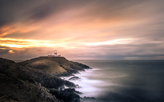 Time Goes By (garethleethomas) Tags: lighthouse sunset sky clouds seascape waves longexposure slowshutter coast sea ocean outdoor sun evening landscape