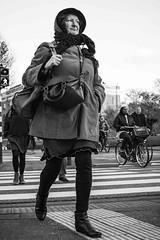 crossing (petdek) Tags: monochrome blackandwhite street crossing people