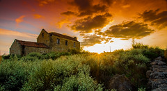 Abandoned (Artur Tomaz Photography) Tags: clouds green red sky spring abandoned building house light nature old rock sun sunset