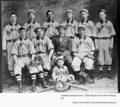 dewilde baseball team  mullens park  1908 albany ny (albany group archive) Tags: early 1900s north albany baseball