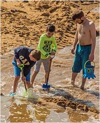 The Dam Busters (tramsteer) Tags: tramsteer hopecove devon beach bucket spade sand sea water southhams southwestengland southdevon dam