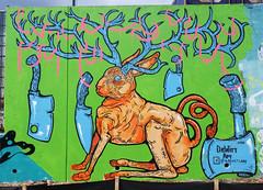 Jackelope by Andrew Dewitt (wiredforlego) Tags: graffiti mural streetart urbanart publicart cabbagetown atlanta georgia atl andrewdewitt
