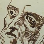 DELACROIX Eugène - Têtes, Etudes d'après la Gravure de L'Autoportrait du Titien (drawing, dessin, disegno-Louvre RF10612) - Detail 29 thumbnail