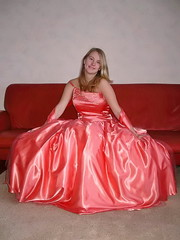 Spectacular young lady (Paula Satijn) Tags: girl young lady blond blonde orange satin silk dress gown ballgown shiny skirt beauty gorgeous elegance feminine girly pretty class cute sweet glamour glamorous