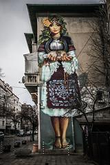 Grace (Melissa Maples) Tags: софия sofia българия bulgaria europe nikon d3300 ニコン 尼康 sigma hsm 1020mm f456 1020mmf456 sofiagraffititour streetart art graffiti traditional woman nasimo bulgarian bread mural wall winter