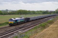 "66711 ""Sence"" - 6E89 - Harrowden Junction - 21-04-17 (techno-phobe) Tags: harrowdenjunction wellingborough northamptonshire midlandmainline mml class66 shed 66711 sence gbrf gbrailfreight 6e89"