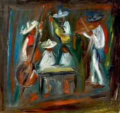 Tucson's annual International Mariachi Conference is now underway! (DeGrazia Gallery in the Sun) Tags: teddegrazia degrazia ettore ted artist galleryinthesun artgallery gallery tucson arizona az desert oil painting mariachis musicians internationalmariachiconference