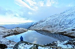 SMALL WATER, LAKE DISTRICT (pajacksonartist) Tags: small water lake district national park cumbria walker contemplation snow stunning sky tarn tranquil