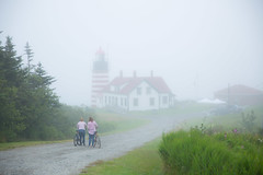 West Quoddy Head Light (Robert Clifford) Tags: lubec maine newengland robertallanclifford robertallancliffordcom westquoddyheadlight coastline fog lighthouse ocean sky water