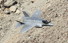 Low Lightning (Dafydd RJ Phillips) Tags: military combat jet fighter california death valley jedi transition star wars rainbow canyon dutch low level f35 lightning