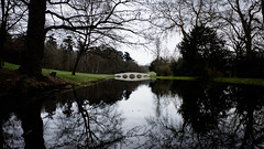Painshill Park Five Arch Bridge (lsullivanart) Tags: fuji fujifilm fujix fujix70 fujinon painshillpark painshill cobham landscape outdoor hill hills fell rural fields parks streams rivers lakes clouds weather moody dramatic atmospheric valleys views sky scenery scenic natural beautiful spring winter europe uk unitedkingdom britain england national british surrey southeast homecounties southern