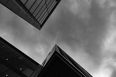 Architecture West End EPMG  (12 of 20) (Philip Gillespie) Tags: architecture edinburgh scotland mono buildings city sky spring form shape angles reflections clouds modern
