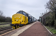 Tin Triangle: Class 37/4 Edition (JordanMossom) Tags: 37424 37558 avrovulcanxh558 class37 374 375 largelogo drs directrailservices cumbria cumbriancoastline maryportcarlisle maryport station lhcs ee englishelectric tractor northern northernengland northwest arrivarailnorth