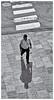 Hombre y Sombra (Man & Shadow) (Samy Collazo) Tags: kodakretinette1a1960 schneiderreomar45mmf28 kodaktrix400 lightroom3 niksilverefexpro2 sanjuan oldsanjuan viejosanjuan puertorico