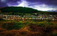Mines & Memories (Rae de Galles) Tags: home houses orange green blue skies mines work life village black community mountain cwmrhondda treorchy rhondda heaps coal rural mining cymru wales welsh valleys