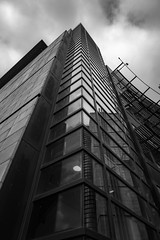 Architecture West End EPMG  (6 of 20) (Philip Gillespie) Tags: architecture edinburgh scotland mono buildings city sky spring form shape angles reflections clouds modern