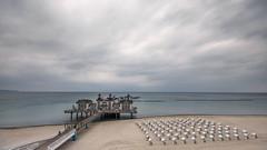 Cloudy day (hjuengst) Tags: landschaftennatur meer rügen strand sellin pier clouds balticsea geotagged